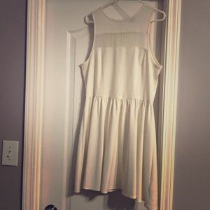 H&M white dress with mesh strip